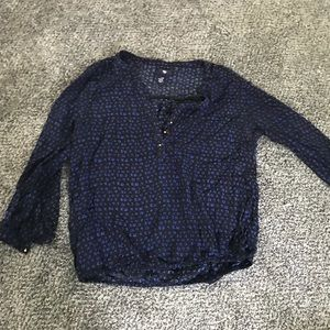 Gap extra small 3/4 length blouse